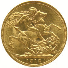 England - Sovereign 1912 George V, gold