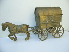 Brass Horse and Carriage - Large model