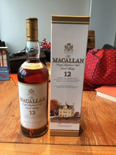 Macallan 12 years old exclusively matured in selected sherry oak casks from Jerez