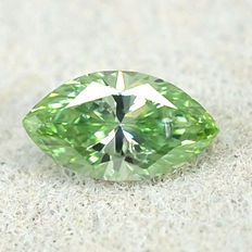Rare Mint Green Diamond - 0.115 ct