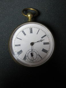 Pocket watch with key winding - around 1880.