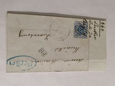 Luxembourg letter 1862 with State Coat of arms stamp of 10 centimes