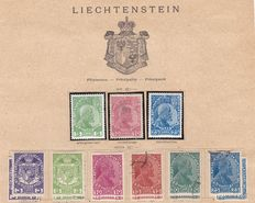 Liechtenstein 1912/28 - a small collection on old album pages