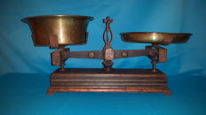 Decorative antique grocery scale, first half 20th century