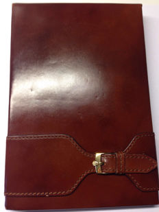 Rolex brown leather blocknote with original clip