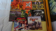Lot of 8 Rock & Metal albums on coloured, clear and black vinyl from Grave Digger, Iron Maiden, Metallica, Saxon , Iced Earth, Black Label Society, Running Wild
