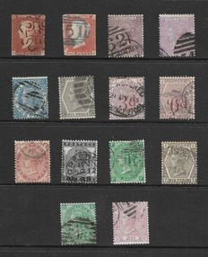 Great britain Queen Victoria - a small collection of 14 stamps