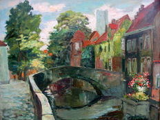 Unknown (mid 20th century) - city view Bruges