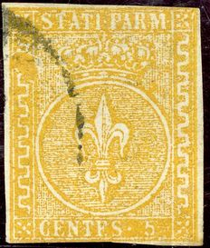 Parma—Orange yellow 5 Cents