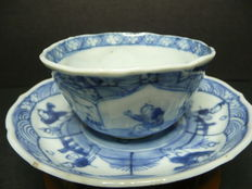 Cup and saucer - China - 18th century (Kangxi period)