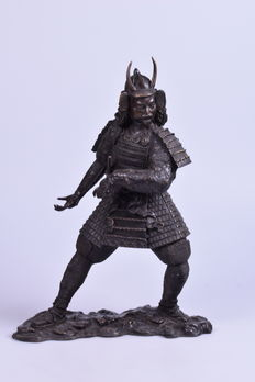 Bronze Japanese warrior - 7 kg - Japan - End of the 20th century
