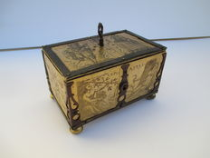 A Renaissance gilt metal, brass and copper mounted casket - circle of Michael Mann - Nuremberg, Germany - first half of the 17th century