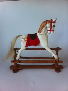 Antique English rocking horse
