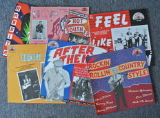 SUN records. Lot of 7 beautiful SUN samplers released by CHARLY UK in 1985 and 1986