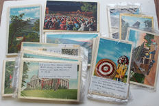 USA 118 Postcards By Asheville Postcard Co L C Le Compte