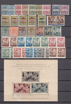 Spain, Barcelona 1929/1945 - Set of stamps and sheets.