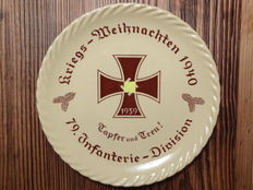 Mettlach Christmas plate 1940 - 79.Infanterie - Division WW II