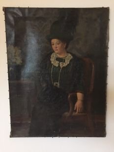 Unknown (19/20th century)-Lady in Chair
