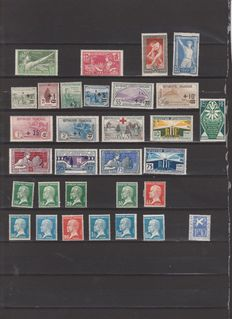France 1918/1934 - Selection of stamps - Yvert n° 156, 162/169, 183/186, 170 to 181, 210/215, 246 to 255 and 294