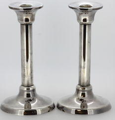 Pair of silver candlesticks, Tiffany & Co, Germany, 1998