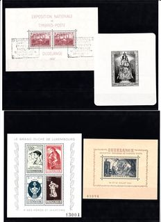 Luxembourg 1937/1990 - Selection of blocks and stamps