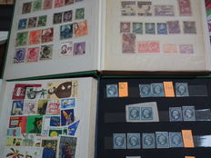Collection of stamps from Romania (between 1878 and 1970) + France (between 1849 and 1961) + DDR accumulation + Cuba