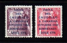 Spain 1951 – Caudillo visit to Canary Islands – Edifil 1088–1089