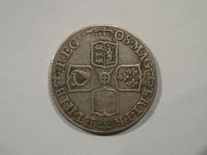 United Kingdom - 1 Shilling 1708 Queen Anne - silver