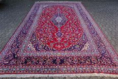 Very large, almost 12 square metre Persian KASHAN Orienta; carpet approx. 391 x 249cm - with certificate of authenticity - condition: Very good