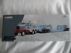 Corgi - Scale 1/50 - Scammell Constructor & 24 Wheel Low Loader Hills of Botley