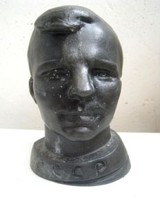 Bust - Yuri Gagarin. The first person in the world who flew into space. Made in USSR. 20th century