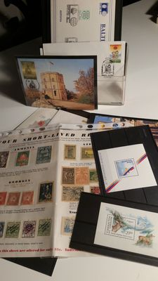 WORLD – Collection of stamps and sheets on card