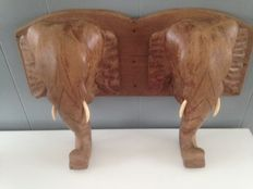 Hard wooden coat rack in the shape of an elephant - early 20th century