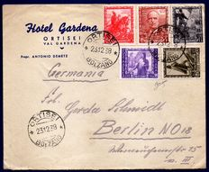 Kingdom of Italy - 1938 envelope with 5 stamps Proclam. Empire