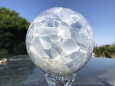Sphere of blue Calcite - 11cm - 2079gm