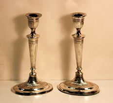 Pair of Filled Silver Candlesticks, Fordham & Faulkner, Sheffield, 1903