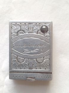 Unique lighter, made by hand, decorated in Aluminium with chisel