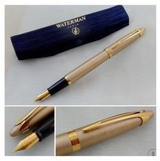 Waterman Ici Satin Champagne GT Fountain Pen | New Old Stock / Mint Condition