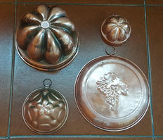Copper pudding molds