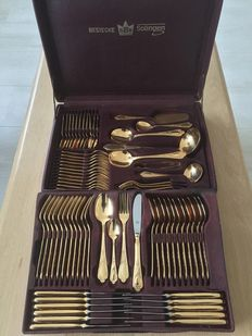 SBS  23/24 Hard Gilded 12 Persons, 70 piece Cutlery case