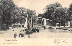 The Dutch province of Zuid-Holland with picture postcards, including, Brielle, Katwijk, Nieuwkoop, Oostvoorne, Rockanje, Schiedam, Meerkerk. 74x