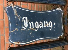 Entrance sign of wrought iron and cast iron - the Netherlands - early 20th century