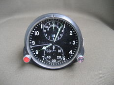 Pilot's clock for the Mig-23 fighter jet (СССР/USSR). The second half of the 20th century.