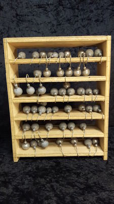 Collection of large sinker weights with hooks-51 pieces