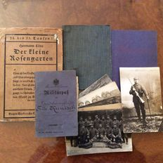 Documents of World War 1 - military pass, work book