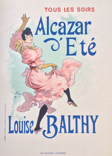 Jules Chéret (1836-1932) - 'Alcazar D'été Louise Balthy' poster from the 'Les Affiches Illustrées' series