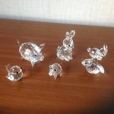 Swarovski - mother hare- hare mini lying down - leapfrog - pig - pig mini - sparrow mini