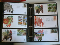 The Netherlands 2001/2010 – Collection FDC's incl. Post-paid in two albums