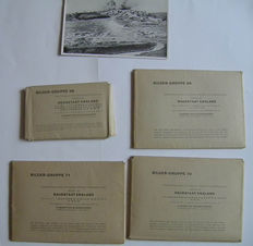 104 x photos of Raubstaat, England - very rare WW2 + 9 repayment bills from the German post. Rare
