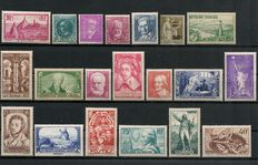 France 1933/1936 - lot of 20 stamps, Yvert no. between 290 and 315